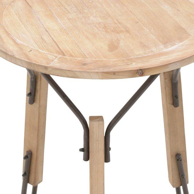 Кофейный стол из металла и дерева