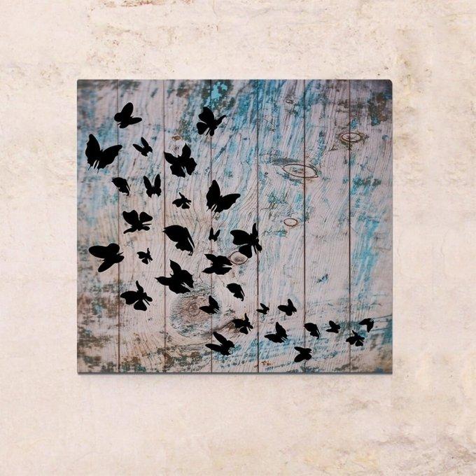 Картина на дереве Бабочки