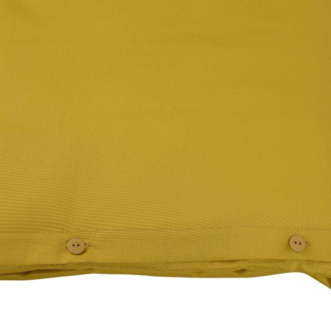 Комплект постельного белья Essential из сатина горчичного цвета 150х200