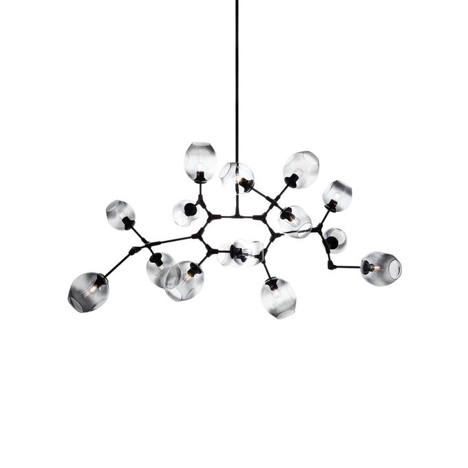 Подвесная люстра Molekula с плафонами из стекла