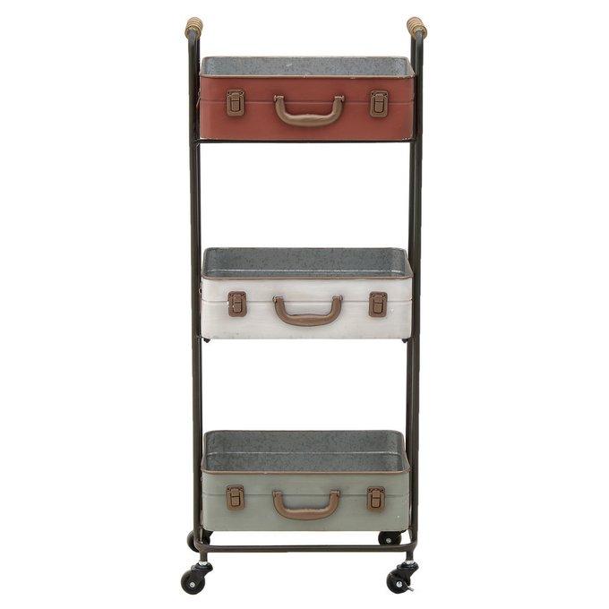 Стеллаж-стол на колесах из металла