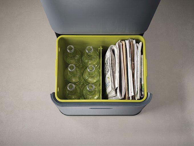 Контейнер для сортировки мусора totem 48 л графит