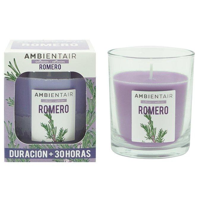 Свеча ароматическая Розмарин Garden фиолетового цвета