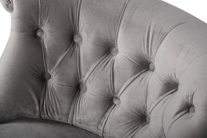 Кресло низкое серого цвета
