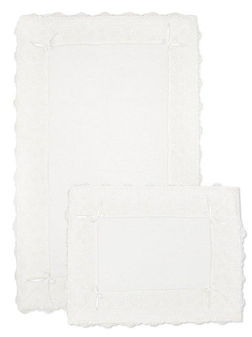 Набор из двух для ванной из хлопка белого цвета