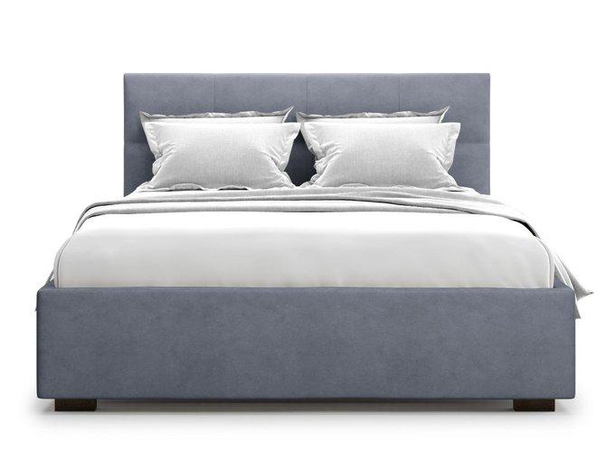 Кровать Garda 180х200 серого цвета с подъемным механизмом