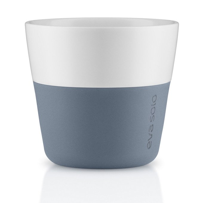 Комплект из двух чашек для лунго синего цвета