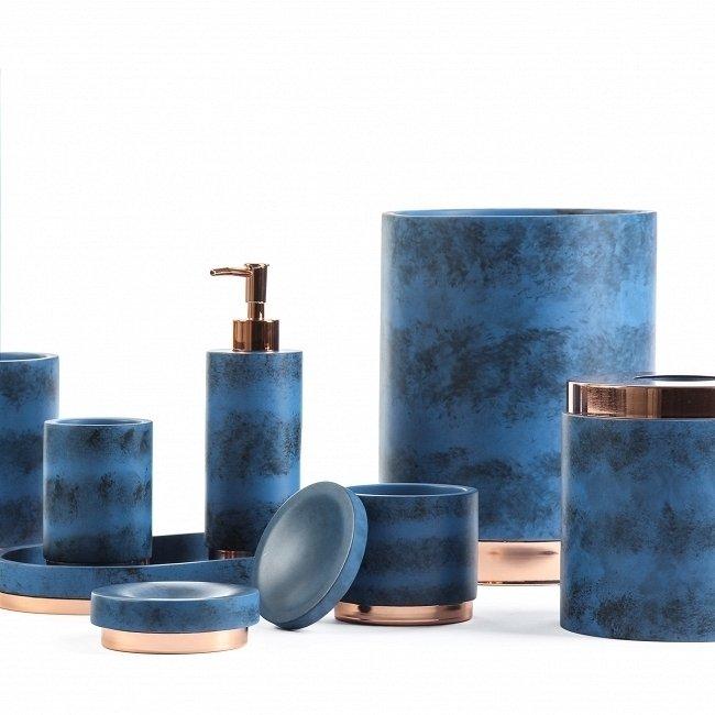 Корзина для мусора Nanking синего цвета