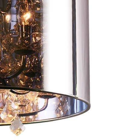 Подвесная люстра Quelle с плафоном серого цвета