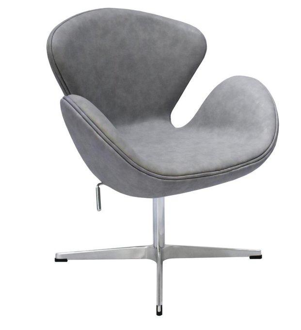 Кресло Swan Chair серого цвета