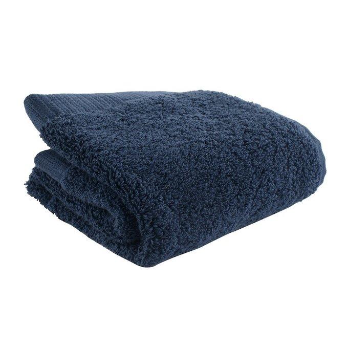 Полотенце для лица из хлопка темно-синего цвета