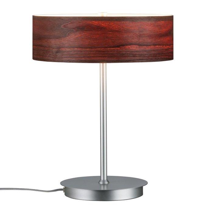 Настольная лампа Liska с плафоном из дерева