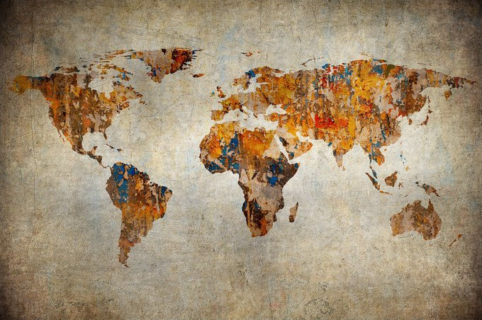 Картина (репродукция, постер): World map