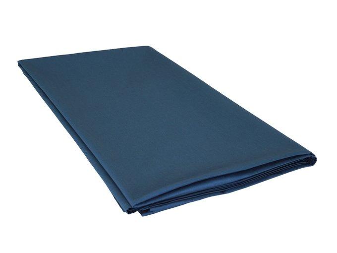 Простыня Plain Collection темно-синего цвета 160х220