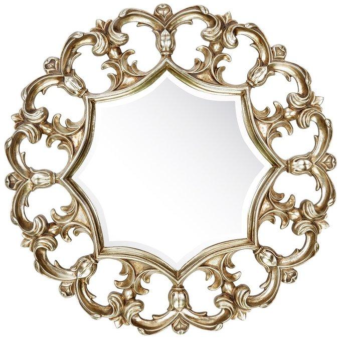 Настенное Зеркало в резной раме Florian Silver