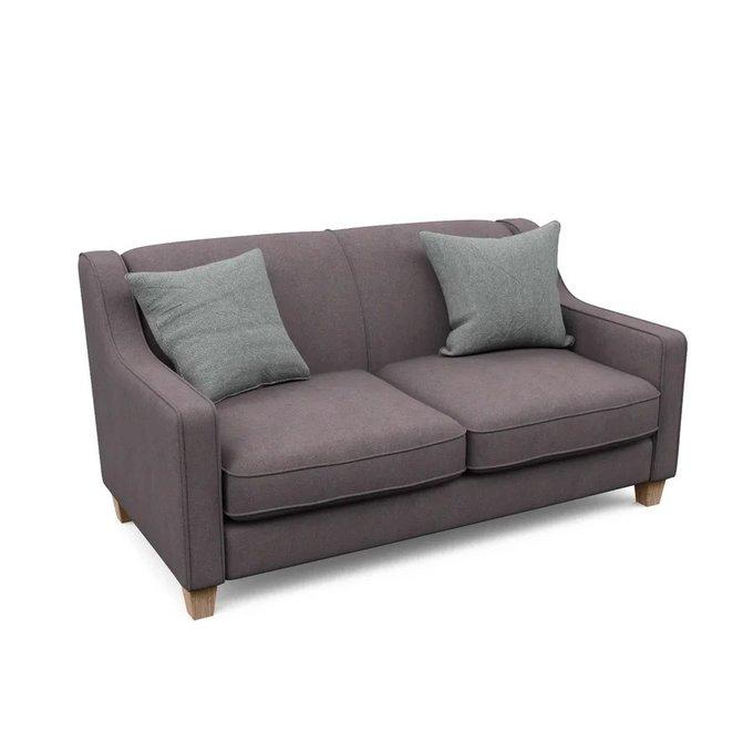 Двухместный диван Агата M коричневого цвета
