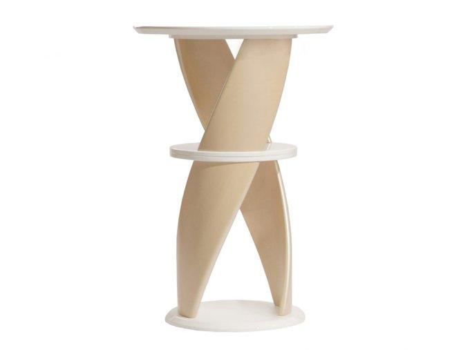 Стол барный Virtuos с белой столешницей