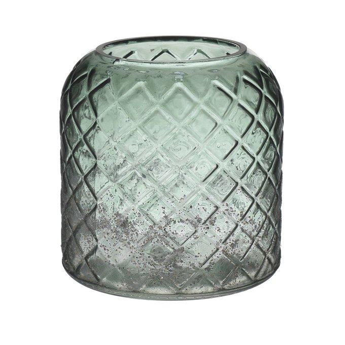 Стеклянная ваза зеленого цвета