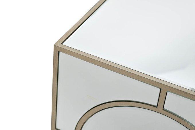 Прикроватная зеркальная тумба