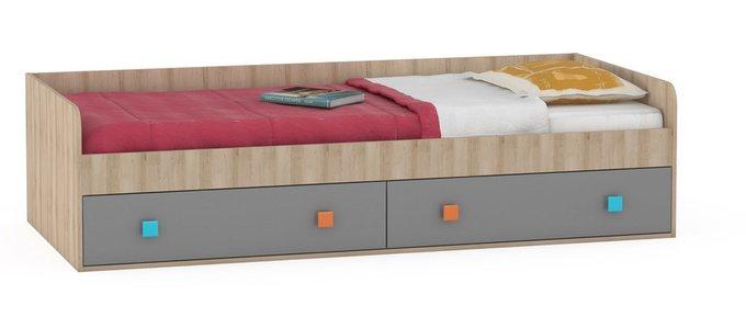 Одноярусная кровать Доминика с двумя ящиками