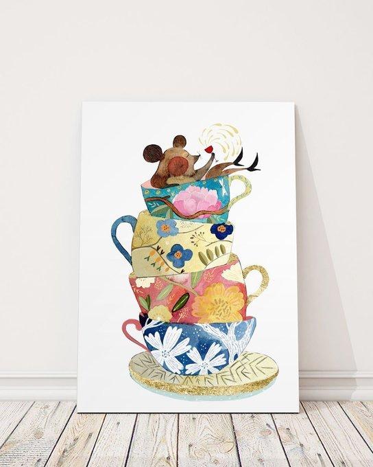 Постер Чашки на холсте