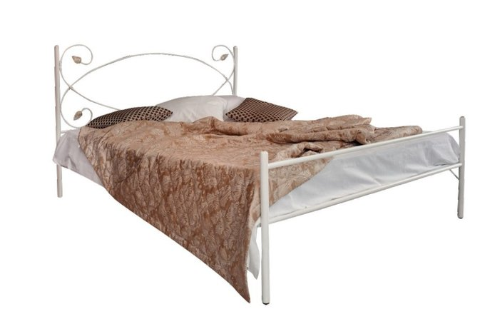 Кованая кровать Виктория 1.4 с одной спинкой 140х200
