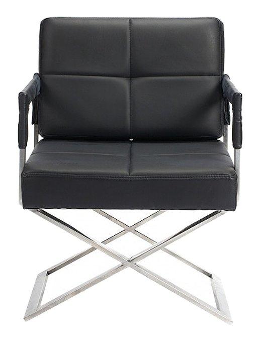 Кресло Aster X Chair Черная Кожа