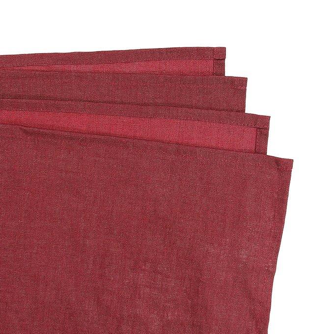 Скатерть на стол с декоративной обработкой бордового цвета