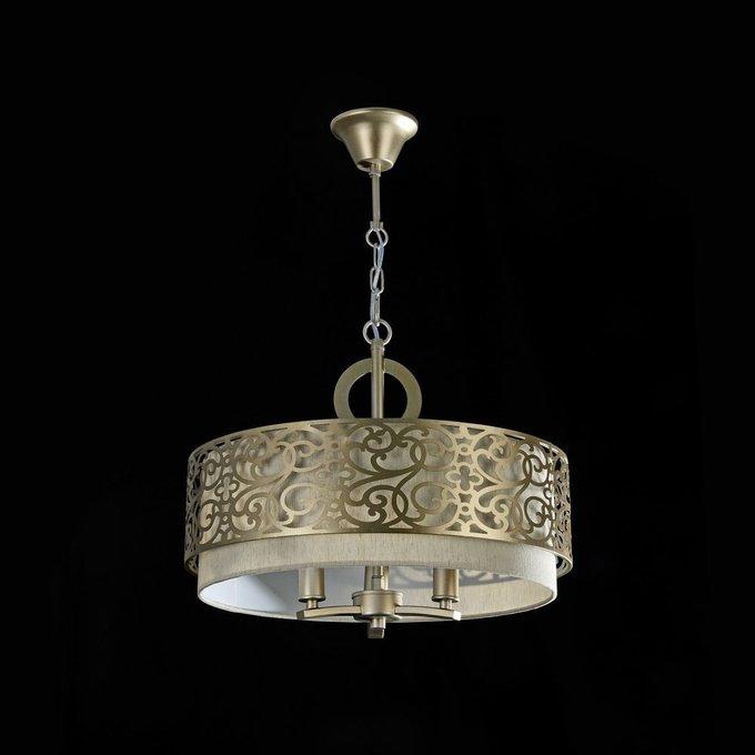 Подвесной светильник Venera с абажуром цвета льна