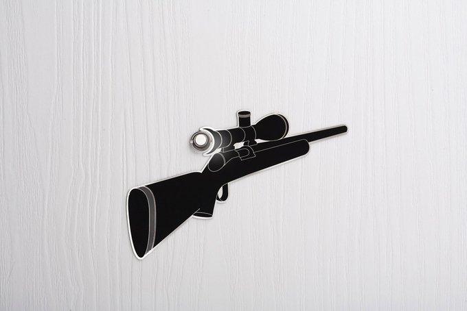 Наклейка на глазок eye spy снайперская винтовка