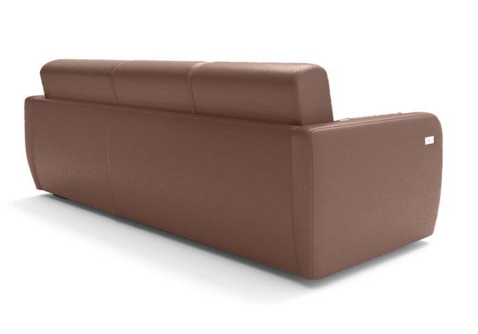 Угловой диван-кровать коричневого цвета