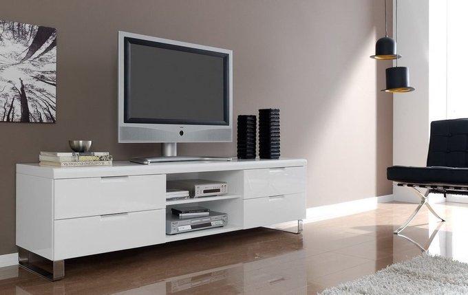 Тумба под TV Dupen белого цвета