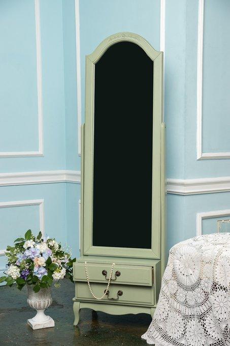 Зеркало напольное с рамой из дерева