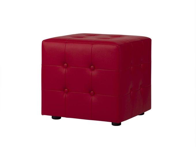 Пуф Rubik Plus красного цвета