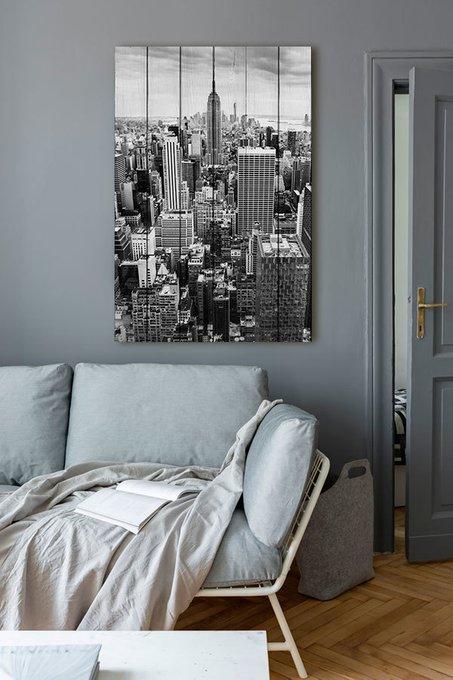 Картина на дереве Нью Йорк 60х90