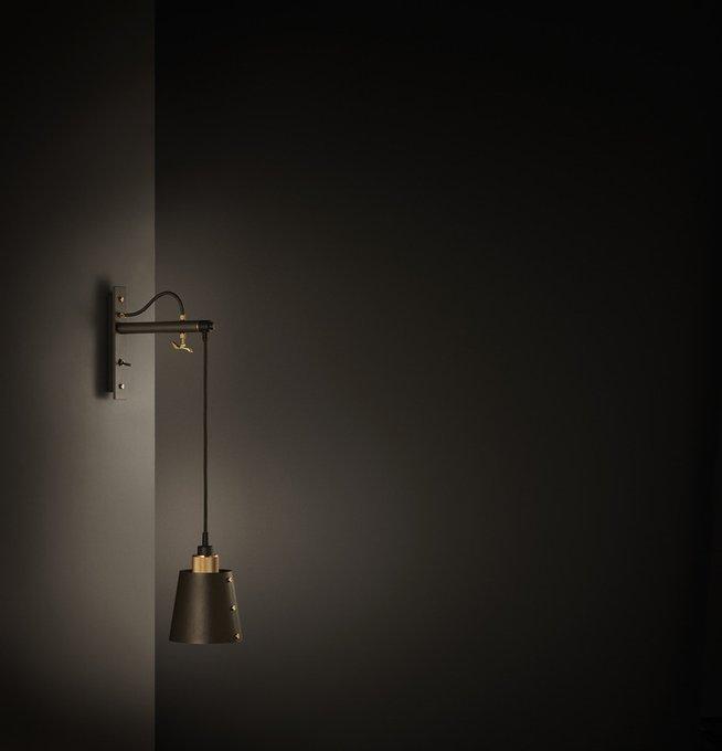 "Настенный светильник ""Hooked wall small"""