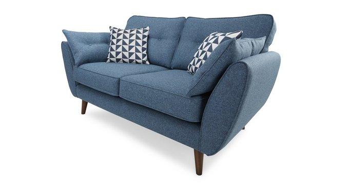 Прямой двухместный диван Элдон синий
