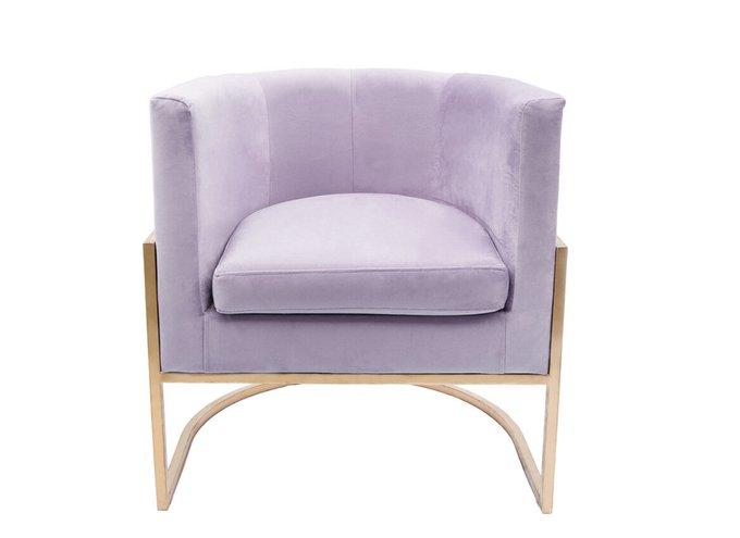 Кресло Космос на металлокаркасе лиливого цвета