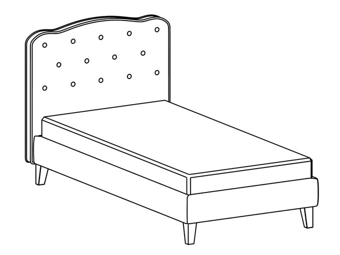Кровать Candy розового цвета 80х160