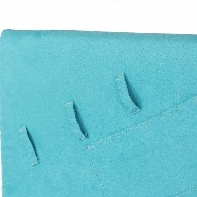 Кровать Henner High 90x200 голубого цвета с подъемным механизмом