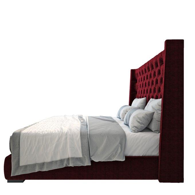 Кровать Jackie King Велюр Красный 140х200