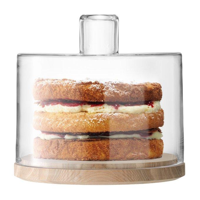 Блюдо сервировочное со стеклянным колпаком LSA lotta