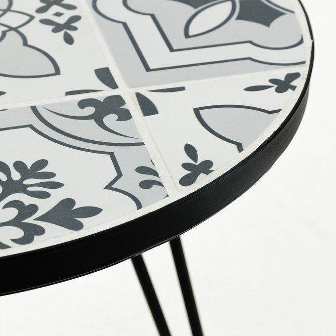 Столик Освальда серого цвета