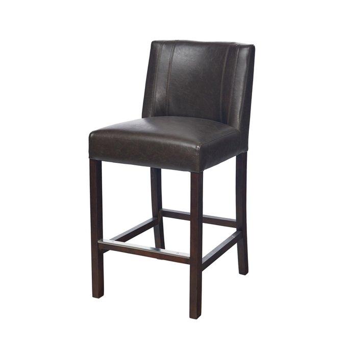 Барный стул Cadi Counter черного цвета на деревянных ножках