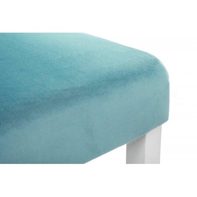 Стул Amelia white fabric tiffany голубого цвета