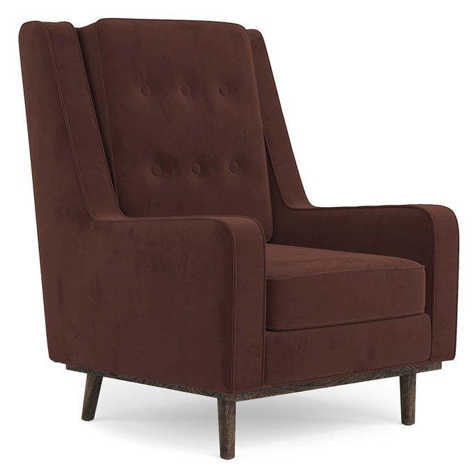 Кресло Scott коричневого цвета