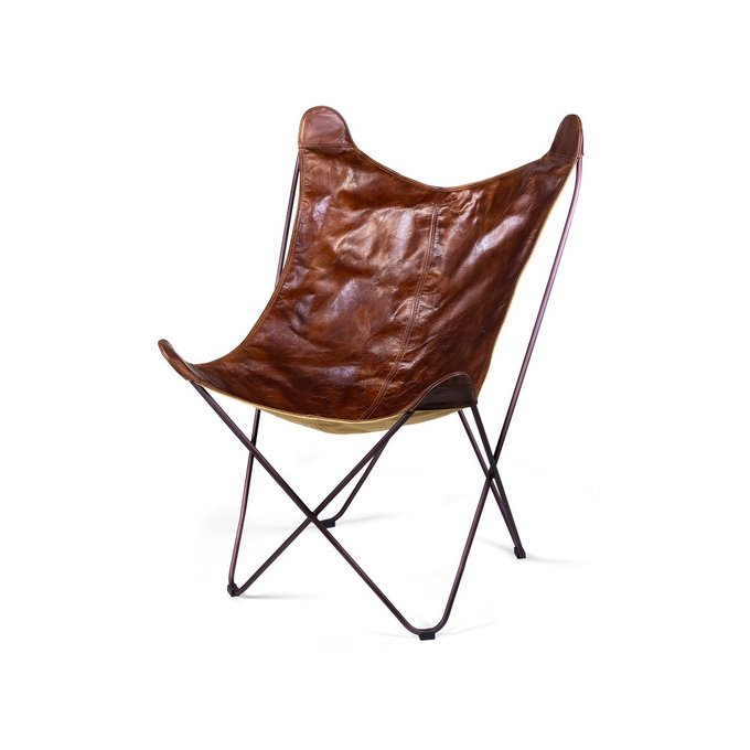 Кресло Butterfly коричневого цвета