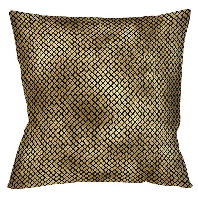 Интерьерная подушка Кобра черно-золотого цвета