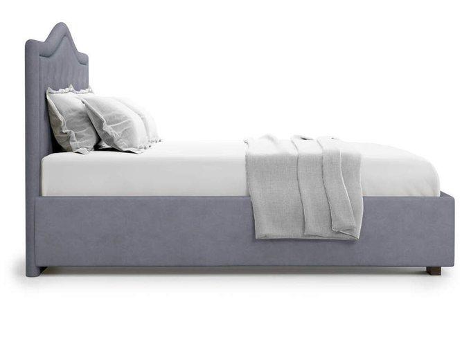 Кровать Tibr без подъемного механизма 160х200 серого цвета
