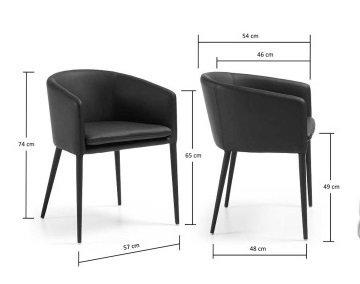 Кресло Julia Grup Harmon черного цвета